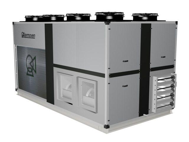 Infografía climatizador mod. TAC-2-100-2. Vista exterior frontal derecha.