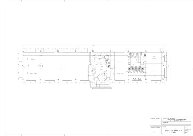 Arquitectura. Planta de oficinas