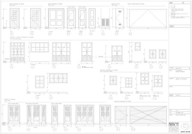 Arquitectura. Memoria de carpintería