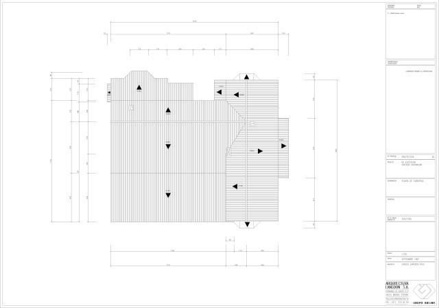 Arquitectura. Planta de cubierta