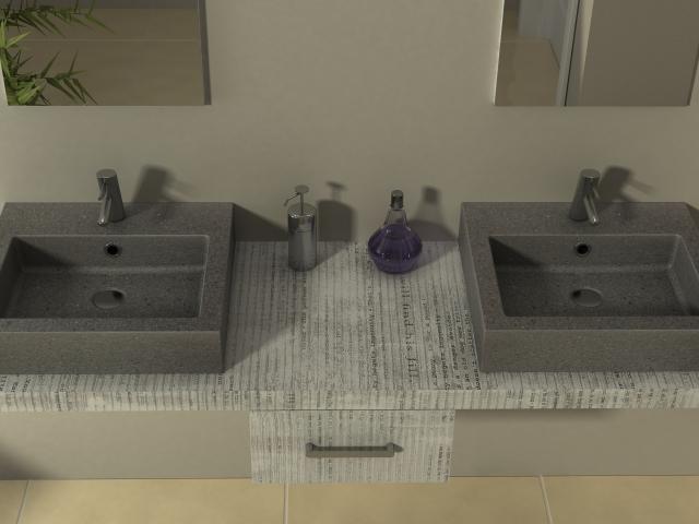 Detalle encimera baño