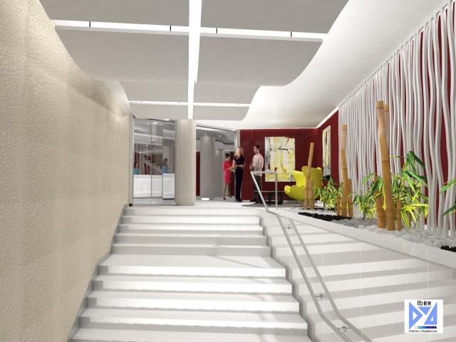 Vista escalera oficina